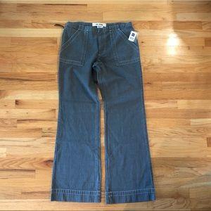 Gap Denim Wide Leg Jeans Sz 12 Tall blue/gray